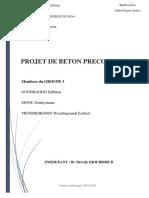 Projet de Béton Précontraint Groupe 3