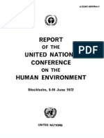 Stockholm Declaration on the Human Environment, June 1972