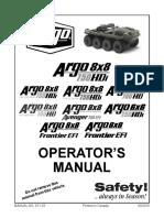 Argo Atv Operator's Manual