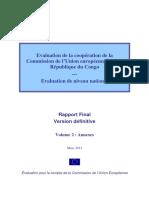 Evaluation de La Coopération de La Commission de Union Européenne Avec La République Du Congo Annexes
