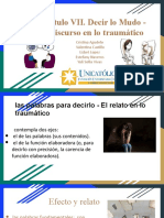 Capítulo VII. Decir lo Mudo - El Discurso en lo traumático (1)
