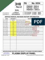 Hitachi P50H401 Service Manual