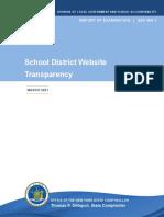 School District Website Transparency report