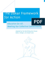 The Dakar Framework for Action