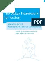 The Dakar Framework for Action