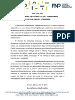 26.03.2021 - Nota Da FNP Sobre a Diplomacia Brasileira
