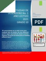 Actividad de Emprendimi 2021 Grado10