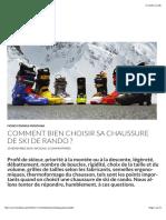 Comment Bien Choisir Ses Chaussures de Ski de Rando (2)