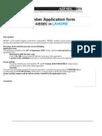 Membership Application Form 2010 - AIESEC Lahore-final