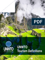 UNWTO Tourism Definitions
