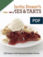 Recipes from Martha Stewart's Pies and Tarts by Martha Stewart