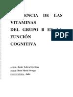 influencia de las vitaminas del grupo b