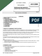 A10 2260 (rev. A; 2001.04) FR - MARQUAGE DES PRODUITS DE CONCEPTION PRODUIT PROCESS