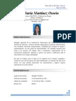 Hoja de Vida Rosa Martínez