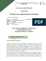 Ficha tecnica - S6 II QUIM- 9° EGB - Educación Cultural y Artística