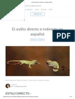 El estilo directo e indirecto en español _ Profes