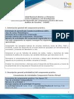 Guía para el desarrollo del componente práctico y rúbrica de evaluación - Unidades 1, 2, 3 y 4 - Fase 5