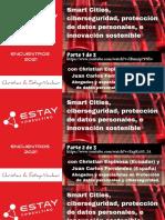 Smart Cities, ciberseguridad, protección de datos personales, e innovación sostenible