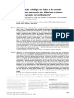 Determinação radiológica do índice e do tamanho craniano por mensuração dos diâmetros cranianos em uma população infantil brasileira