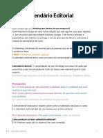 Calendrio Editorial