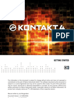 Kontakt 4 Getting Started English