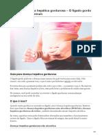 Guia Para Doença Hepática Gordurosa O Fígado Gordo é Uma Doença Comum