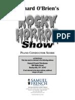 Rocky Horror Conductors Score