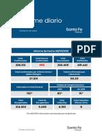 Reporte epidemiológico del Ministerio de Salud de la Provincia de Santa Fe