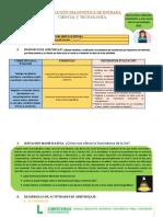 EVALUACION DIAGNOSTICA C y T 4°