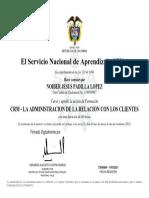 Certificación Sena