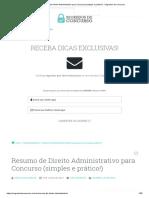 Resumo de Direito Administrativo Para Concurso (Simples e Prático!) - Segredos de Concurso