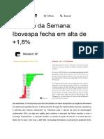 Resumo Semanal + Análise Locaweb e Recomendação XP