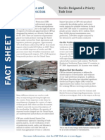U.S. Customs & Border Protection publishes Textiles Fact Sheet
