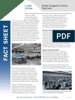 U.S. Customs & Border Protection publishes Textiles Fact Sheet