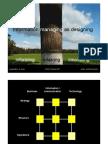 Information managing as designing