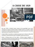 CRISE DE 1929 E O NEW DEAL