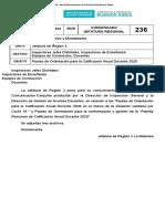 Comunicado JR 236-20 - Pautas de Orientación para la Calificación Anual Docente 2020