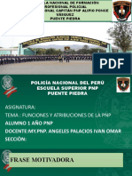 FUNCIÒN Y ATRIBUCIÒN DE LA PNP