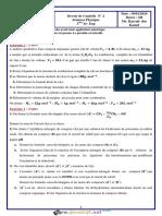 Devoir de Contrôle N°2 - Sciences physiques - 3ème Sciences exp (2019-2020) Mr KAMEL BAYRAK DAR (2)