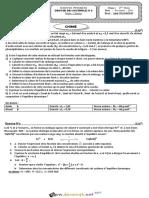 Devoir de Contrôle N°2 - Sciences physiques - Bac Mathématiques (2016-2017) Mr Jalel CHAKROUN (1)