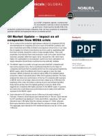 Nomura Impact of MENA Crisis on Oil Companies