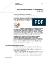 Week 004 - Contextual Research in Daily Life 1 -  Qualitative Research and its Importance in Daily Life