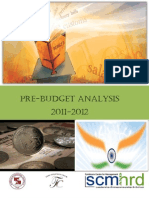 Pre-Budget Analysis 2011-2012