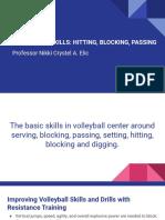 VOLLEYBALL SKILLS_ HITTING, BLOCKING, PASSING