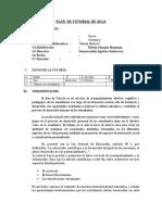 PLAN  DE TUTORIAL DE 3° SEC