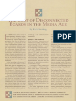 Cost of Disconnected Boards in the Media Age