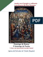 Domingo de Ramos. Bendición de los ramos con el Propio y Ordinario de la santa misa