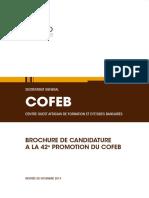 Brochure 42e Promotion du COFEB