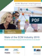 AIIM_State of ECM Market 2010