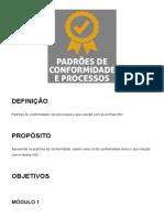 Padrões de conformidade e processos